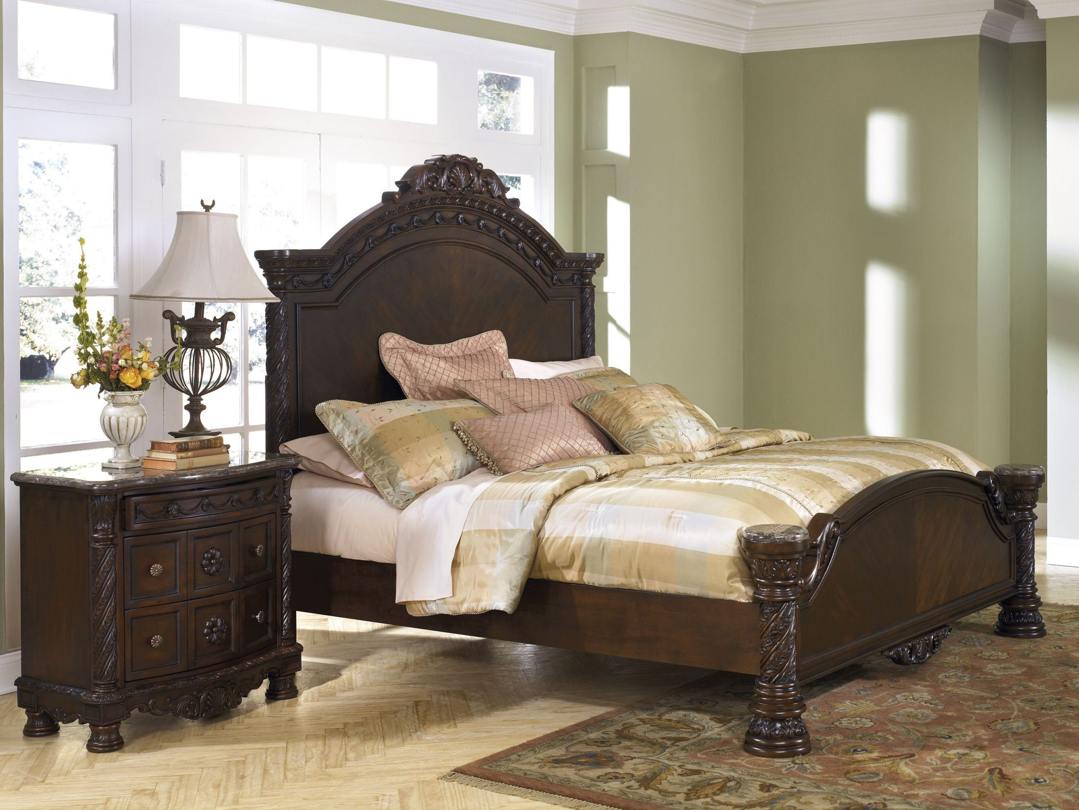 North Shore King Panel Bed Lexington Overstock Warehouse