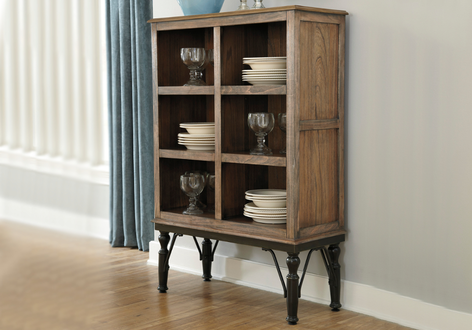 Tripton medium brown dining room server lexington overstock warehouse - Servers for dining room ...