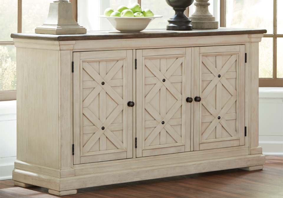 Bolanburg White/Gray Dining Room Server | Lexington Overstock Warehouse