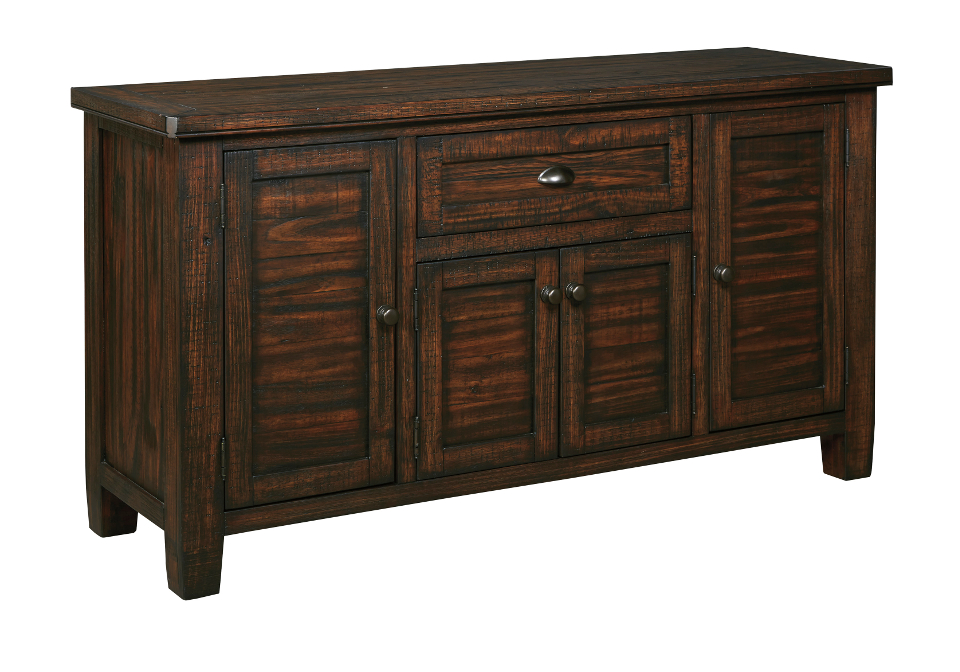 trudell dark brown dining room server home shop dining room servers
