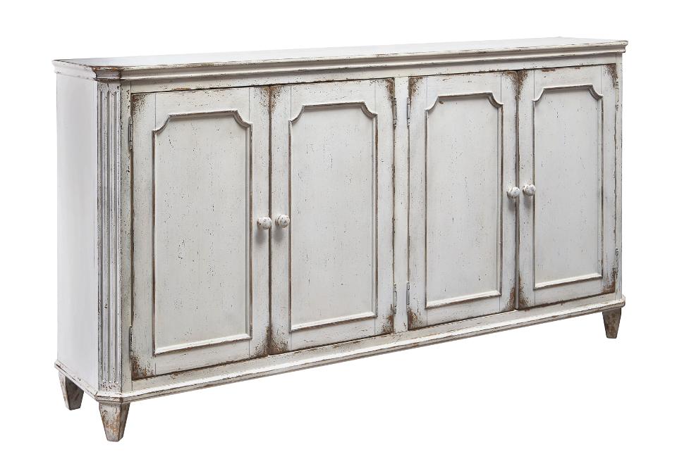 Mirimyn Antique White Door Accent Cabinet   Lexington Overstock ...