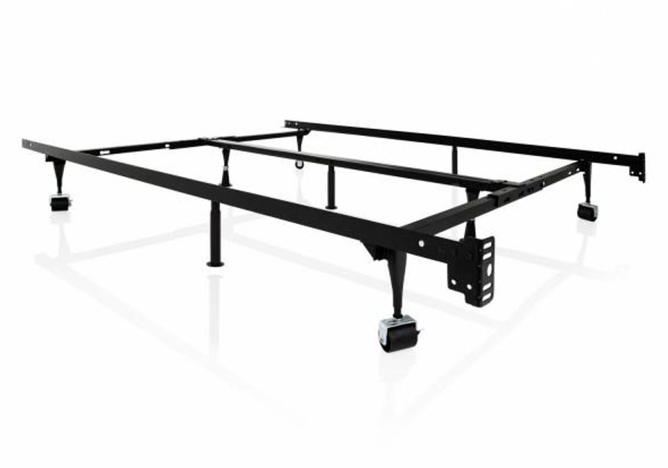 Queen Metal Bed Frame With Wheels Lexington Overstock Warehouse