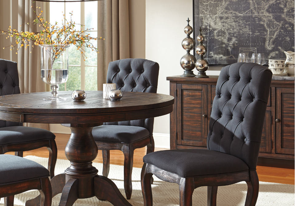 round dining room table home shop dining room tables trudell round