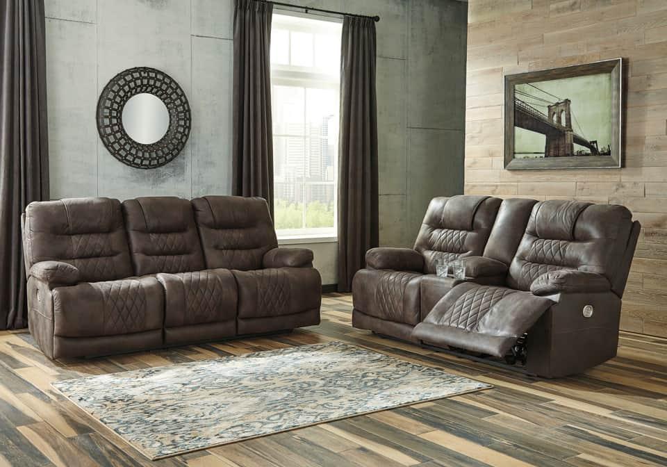 Welsford Walnut Power Reclining Sofa Set Lexington Overstock Warehouse