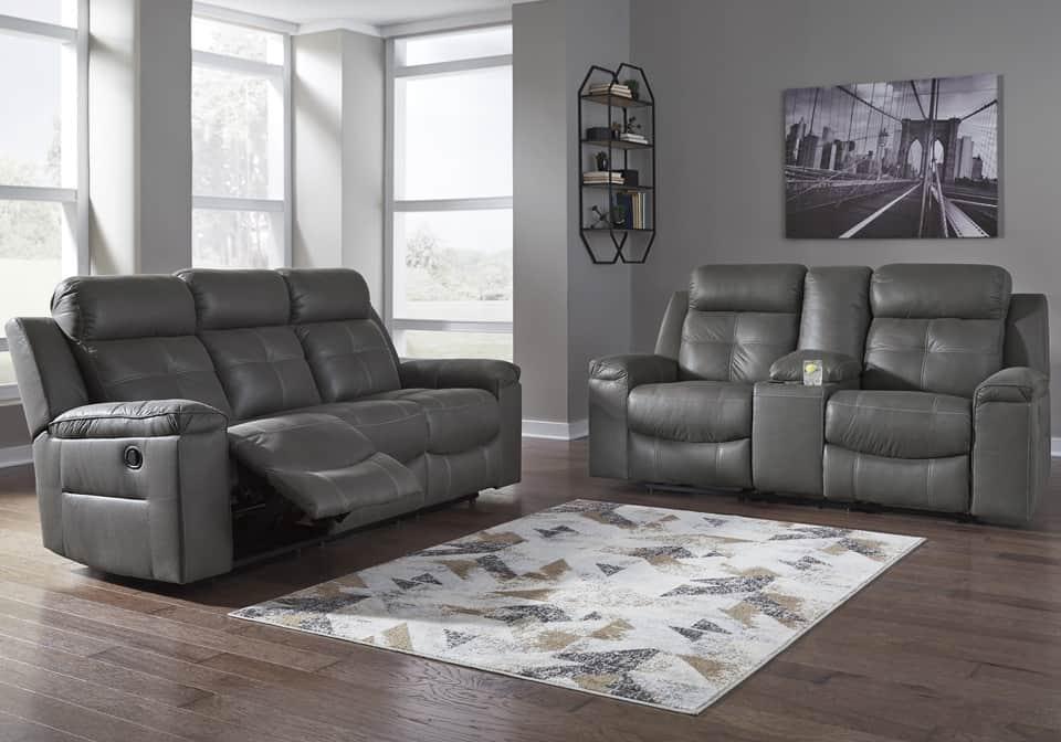 Jesolo Dark Gray Reclining Sofa Set Lexington Overstock Warehouse