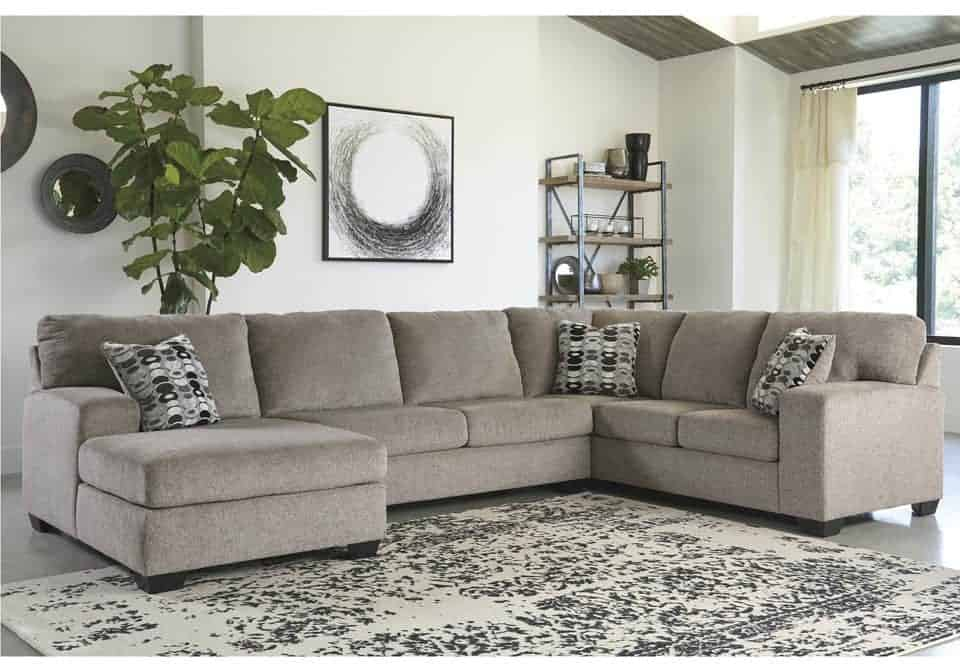 Admirable Ballinasloe Platinum 3Pc Raf Sofa Sectional Squirreltailoven Fun Painted Chair Ideas Images Squirreltailovenorg