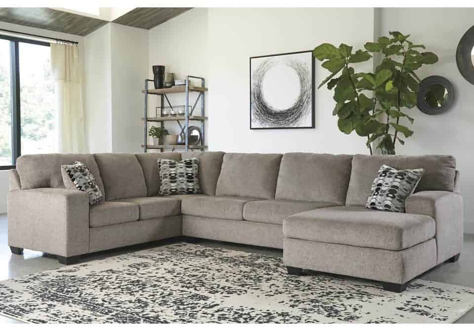 Incredible Ballinasloe Platinum 3Pc Laf Sofa Sectional Squirreltailoven Fun Painted Chair Ideas Images Squirreltailovenorg