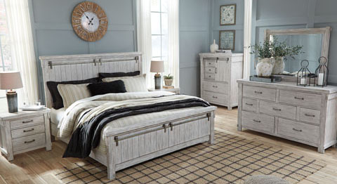 Brashland White King Panel Bedroom Set | Lexington Overstock Warehouse