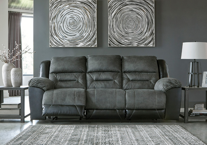 Super Earhart Slate Reclining Sofa Pabps2019 Chair Design Images Pabps2019Com