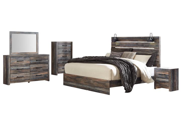 Drystan Multi King Panel Bedroom Set Lexington Overstock