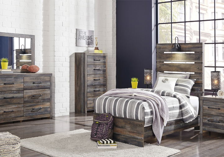 Drystan Multi Twin Panel Bedroom Set