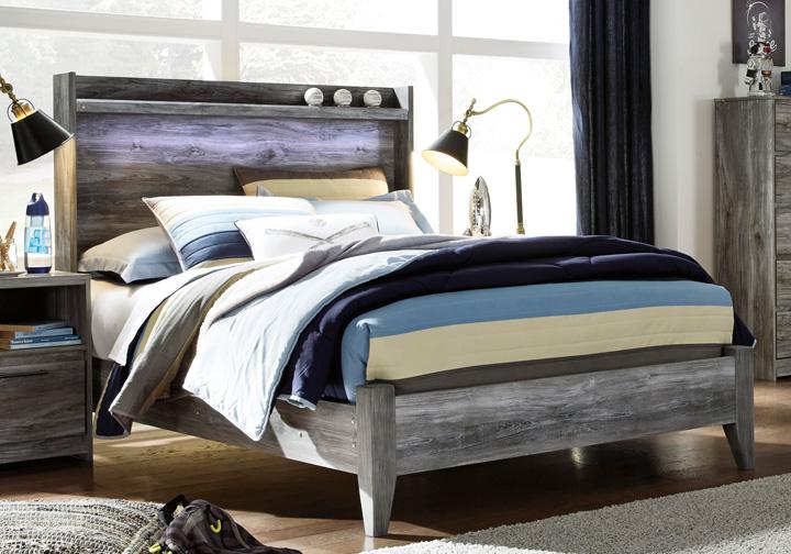 Baystorm Gray Full Panel Bed  7c22b8fff2aa