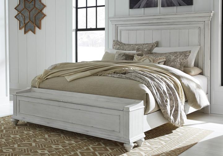 Kanwyn Whitewash Queen Panel Storage Bedroom Set