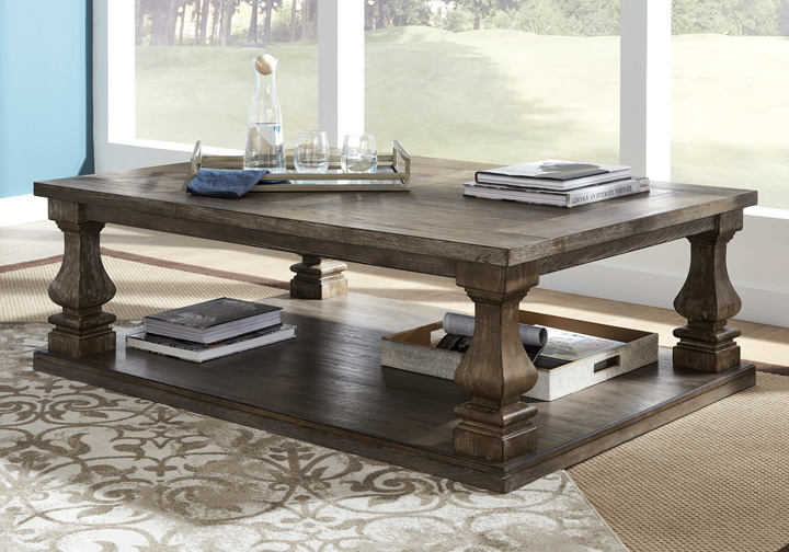 c5a69891d7f104 Johnelle Gray Rectangular Cocktail Table | Lexington Overstock Warehouse