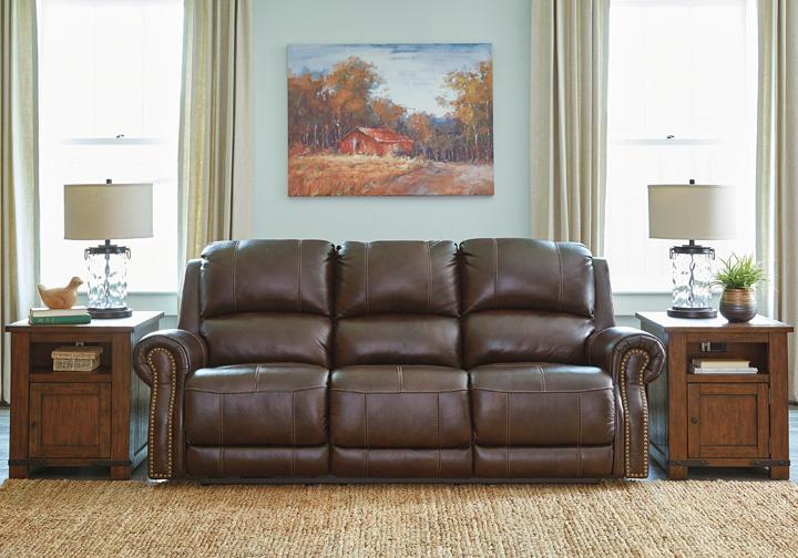 Buncrana Chocolate Power Reclining Sofa W Adjustable
