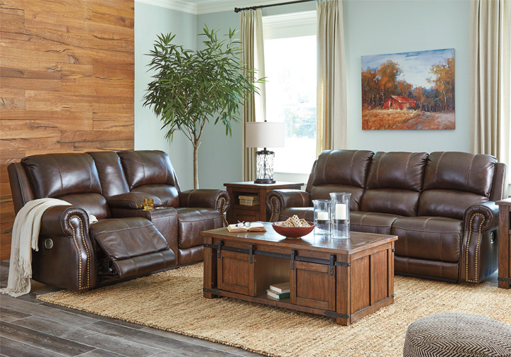 Fabulous Buncrana Chocolate Power Reclining Sofa Set W Console Adjustable Headrest Ncnpc Chair Design For Home Ncnpcorg