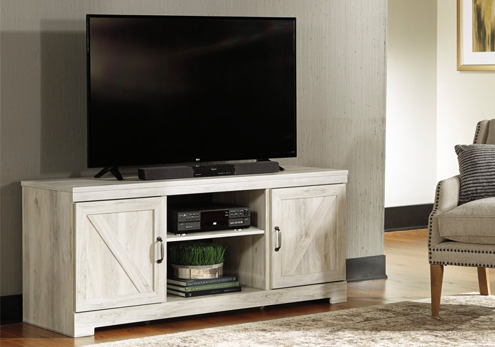 Bellaby White Tv Stand Lexington Overstock Warehouse