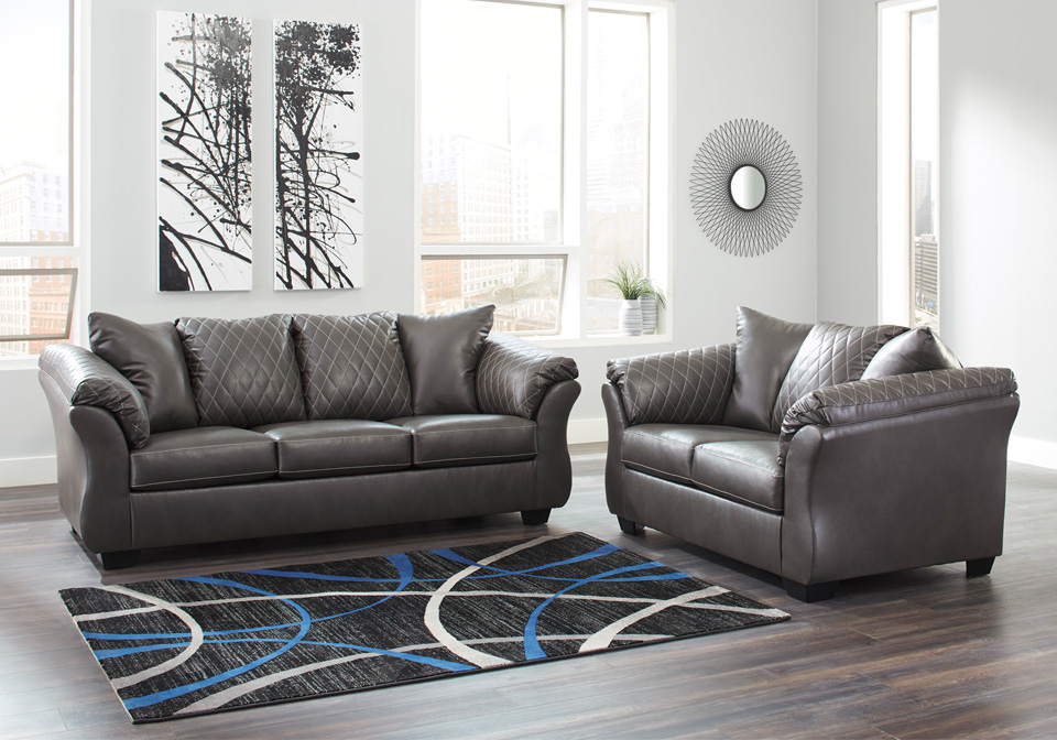 Betrillo Gray Sofa Set
