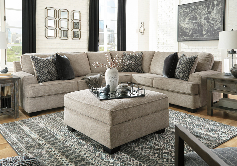 Bovarian Stone 3pc Laf Sectional Lexington Overstock