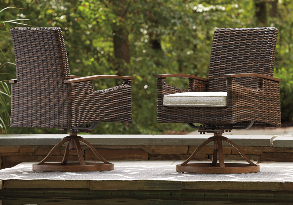 Remarkable Paradise Trail Brown Outdoor Swivel Chair Pabps2019 Chair Design Images Pabps2019Com