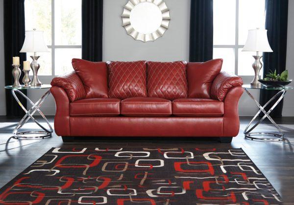 Superb Betrillo Red Sofa Short Links Chair Design For Home Short Linksinfo