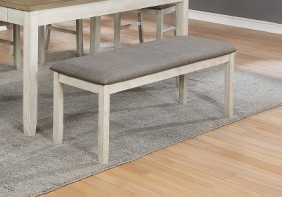 Nina White Dining Bench Seat