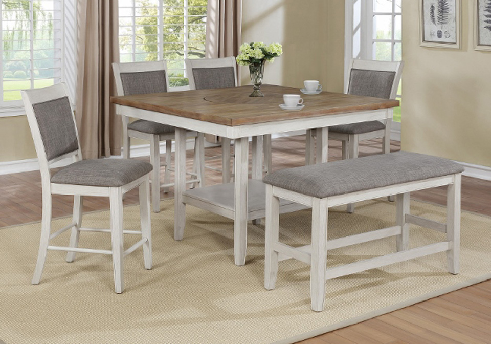 Terrific Fulton White Counter Height Dining Bench Seat Onthecornerstone Fun Painted Chair Ideas Images Onthecornerstoneorg
