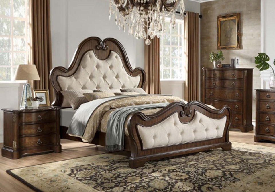 Isabel Brown King Panel Bed Lexington Overstock Warehouse