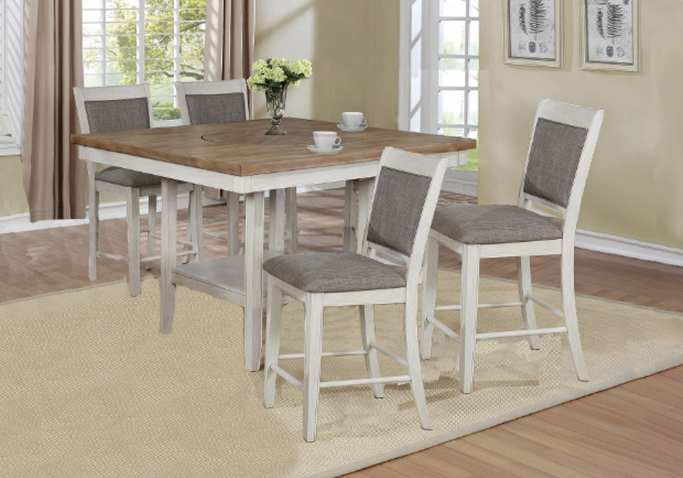 Fulton White Counter Height Dining Table 5pc Set Lexington Overstock Warehouse