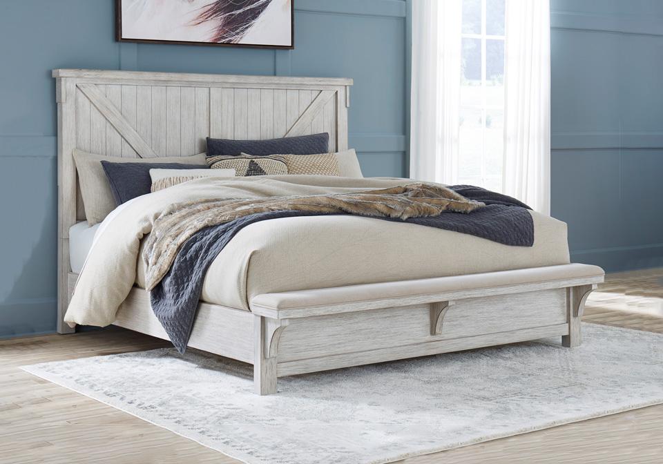 Stupendous Brashland Linen Queen Panel Uph Bench Bed Inzonedesignstudio Interior Chair Design Inzonedesignstudiocom