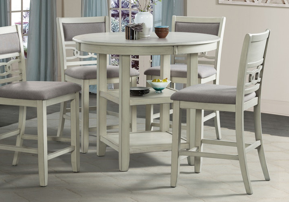 Amherst White Counter Height Table
